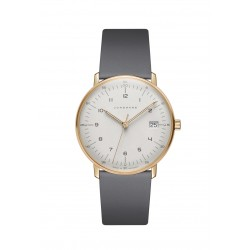 Junghans 047/7854.04 Damen-Uhr Max Bill Analog Quarz mit Leder-Band