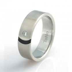 TeNo 064.1314.D15.56 Partner-Ring Tamor Satin Mit Brillant 0,04 ct. TW/si Silber-Ton Gr. 56