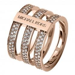 Michael Kors MKJ3781791 Ring Damen Edelstahl Rosé-Ton Gr. 55 (17,5)