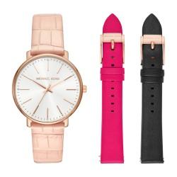 Michael Kors MK2775 Damen-Uhr Pyper Leder Rosé-Ton Wechselband Ø 38 mm