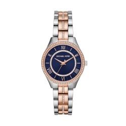 Michael Kors MK3929 Damen-Uhr Mini Lauryn Edelstahl Silber-/ Rosé-Ton 3 Zeiger Ø 33 mm