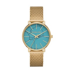 Michael Kors MK4393 Damen-Uhr Pyper Analog Quarz Milanaise-Armband