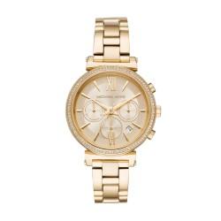 Michael Kors MK6559 Damen-Uhr Sofie Chronograph Analog Edelstahl-Band Gold-Ton