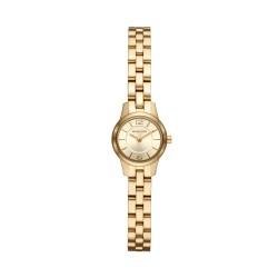 Michael Kors MK6592 Damen-Uhr Petite Runway Edelstahl Gold-Ton 2 Zeiger Ø 19 mm