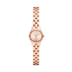Michael Kors MK6593 Damen-Uhr Petite Runway Edelstahl Rosé-Ton 2 Zeiger Ø 19 mm