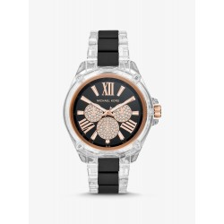 Michael Kors MK6676 Damen-Uhr Wren Multifunktion Quarz Silikon-Armband Ø 42 mm