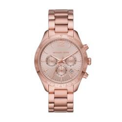 Michael Kors MK6796 Damen-Uhr Layton Chronograph Quarz Edelstahl-Band Rosé-Ton