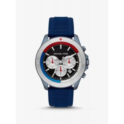 Michael Kors MK8708 Herren-Uhr Theroux Chronograph Quarz Silikon-Armband Ø 45 mm