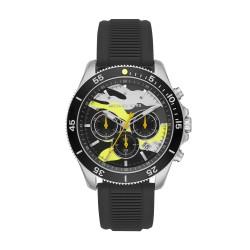 Michael Kors MK8709 Herren-Uhr Theroux Chronograph Quarz Silikon-Armband Ø 45 mm