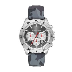 Michael Kors MK8710 Herren-Uhr Theroux Chronograph Quarz Silikon-Armband Ø 45 mm
