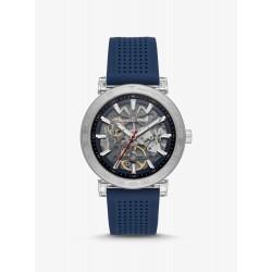 Michael Kors MK9040 Herren-Uhr Greer Analog Automatik Silikon-Armband Ø 43 mm