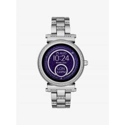 Michael Kors MKT5036 Smartwatch Sofie im Silberton mit Pavé-Fassung Ø 42 mm