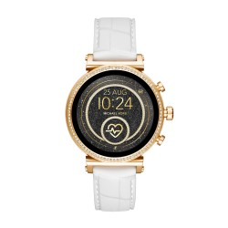 Michael Kors MKT5067 Smartwatch Damen Sofie Heart Rate mit Leder-Band Ø 41 mm