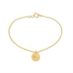 Beka & Bell Armband Damen Mutter und Tochter Mutter-Herz Silber Gold Gr. M