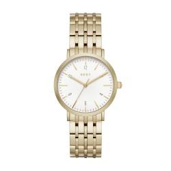 DKNY NY2503 Damen-Uhr Minetta Gold-Ton Edelstahl Ø 36 mm