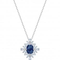 Swarovski 5498831 Kette mit Anhänger Damen Palace Blau Silber-Ton