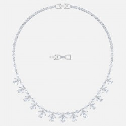 Swarovski 5505495 Halskette Collier Damen Palace Weiss Silber-Ton