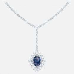 Swarovski 5498812 Kette mit Anhänger Damen Palace Blau Silber-Ton