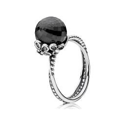 Pandora 190848SPB Ring Schwarzer Glamour-Spinell Gr. 56