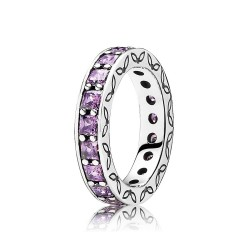 Pandora 190894CFP Eternity Ring Violetter Zirkonia Gr. 54