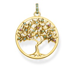 Thomas Sabo PE826-973-7 Anhänger Tree of Love Gold-Ton Silber