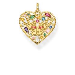 Thomas Sabo PE842-996-7 Anhänger Love & Peace Gold-Ton Silber