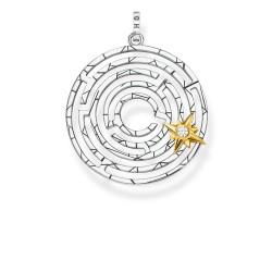 Thomas Sabo PE851-849-14 Anhänger Labyrinth mit Goldenem Stern Silber Gold