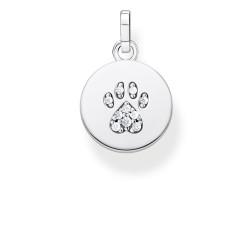 Thomas Sabo PE882-643-14 Ketten-Anhänger Damen Coin Pfote Katze Silber