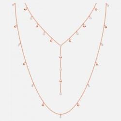 Swarovski 5486650 Halskette Damen Penélope Cruz Moonsun Weiss Rosé Vergoldet