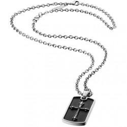 Police PJ25872PSS.01 Kette Anhänger Knights Cross Silber Schwarz
