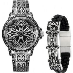 Police PL.15530CRS-SET3  Herren-Uhr Armband Bronxdale Edelstahl Ø 46 mm