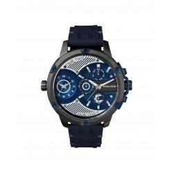 Police PL15049JSU.03P Herren-Uhr Leader Dualtime Silikon Blau Ø 52 mm
