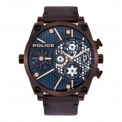 Police PL15381JSBZ.03  Herren-Uhr Vigor Multifunktion Quarz Leder-Armband