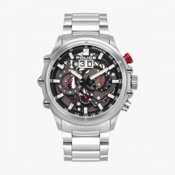 Police PL16018JS.13M Herren-Uhr Luang Chronograph Quarz Edelstahl-Armband