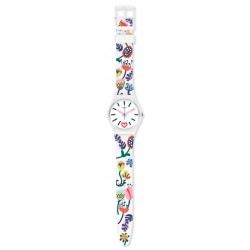 Swatch GW213 Armband-Uhr Just Flowers Analog Quarz mit Silikon-Band