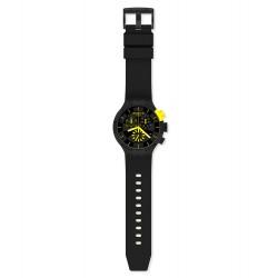 Swatch SB02B403 Armband-Uhr Checkpoint Yellow Chronograph Quarz Silikon-Armband