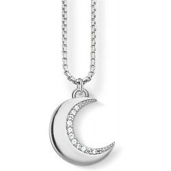 Thomas Sabo SCKE150211 Halskette mit Anhänger Damen Mond Zirkonia Silber