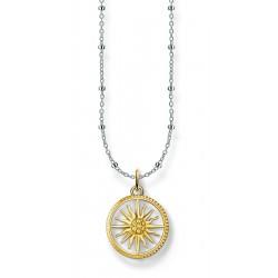 Thomas Sabo SCKE150282 Kette mit Anhänger Sonne Silber Gold