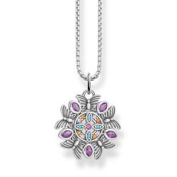 Thomas Sabo SCKE150286 Halskette mit Anhänger Damen Kaleidoskop Sterling-Silber