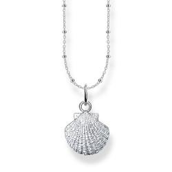 Thomas Sabo SCKE150300 Halskette mit Anhänger Damen Muschel Silber