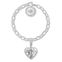 Thomas Sabo SET0554-643-14 Charm-Armband mit Charm Engelspaar Silber