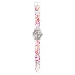 Swatch SFE102 Armband-Uhr Jardin Fleuri Analog Quarz mit Silikon-Band