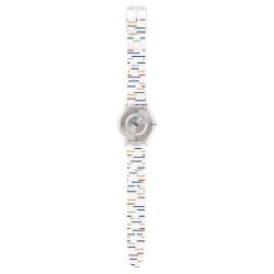 Swatch SFE108 Damen-Uhr Thin LinerClassic Silikon Ø 34 mm