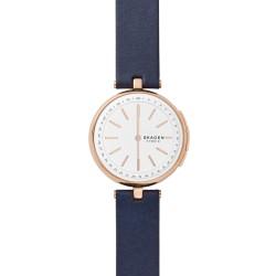 Skagen SKT1412 Hybrid Smartwatch Damen Signatur T-Bar mit Leder-Band