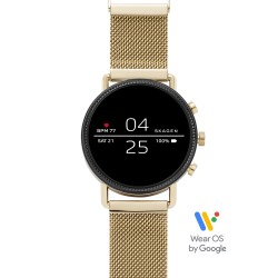 Skagen SKT5111 Smartwatch Falster 2 Gold mit Milanaise-Band Ø 40 mm