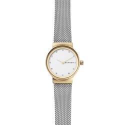 Skagen SKW2666 Damen-Uhr Freja Edelstahl Milanaise Gold-/ Silber-Ton Ø 26 mm