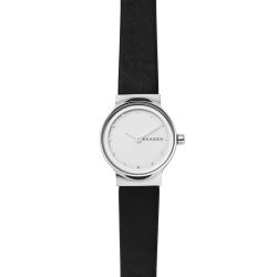 Skagen SKW2668 Damen-Uhr Freja Leder Schwarz Ø 26 mm