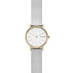 Skagen SKW2729 Damen-Uhr Signatur Edelstahl Milanaise Silber-Gold-Ton Ø 30 mm