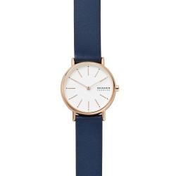 Skagen SKW2838 Damen-Uhr Signatur Analog Quarz mit Leder-Armband Ø 30 mm