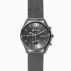 Skagen SKW6608 Herren-Uhr Holst Chronograph Quarz Edelstahl-Band Ø 42 mm